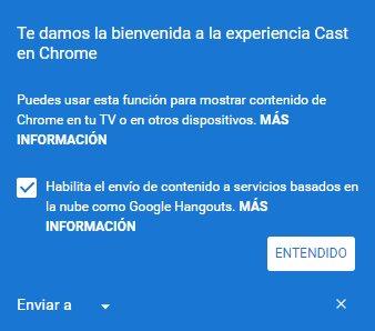 Chrome - Cast - Enviar