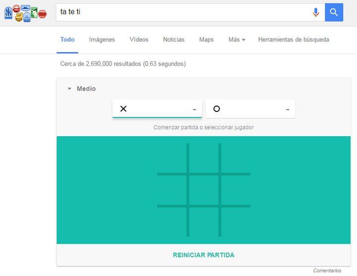 Google - Ta Te Ti - Juegos