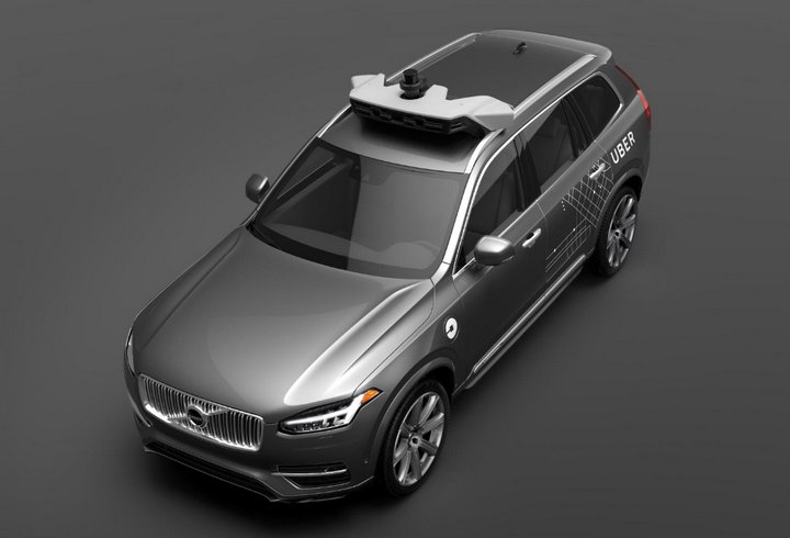 Vehículos Autónomos - Uber - Volvo XC90 SUV
