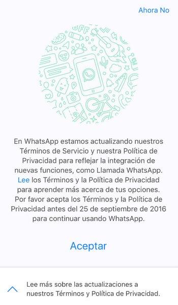 WhatsApp - Políticas de Privacidad