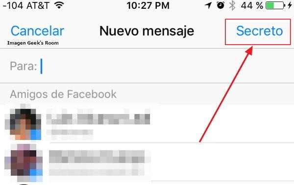 Facebook Messenger Conversaciones Secretas - Chat Secreto