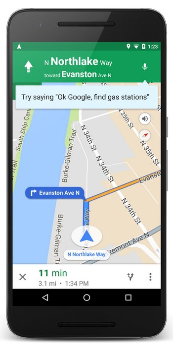 Google Maps Ok Google