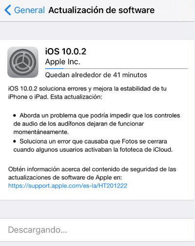 Apple - iOS 10.0.2