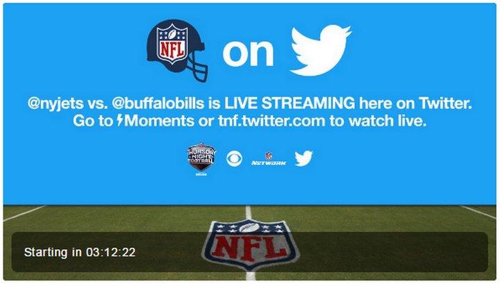 Esta noche Twitter transmitirá en directo un partido de Fútbol Americano