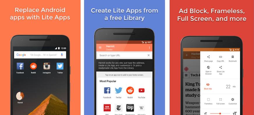 Hermit: Cómo crear versiones Lite de aplicaciones Android