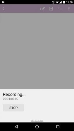 OneNote para Android - Grabación de Audio