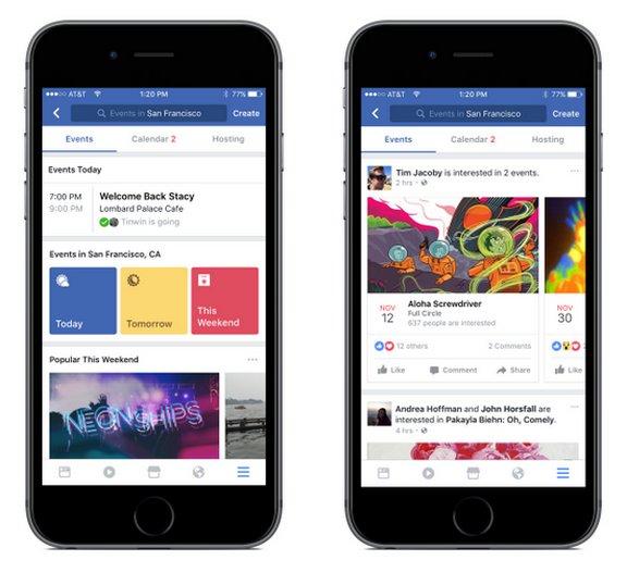 Facebook Eventos - Recomendaciones