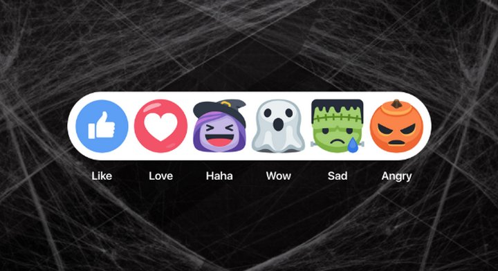 Facebook Reacciones de Halloween