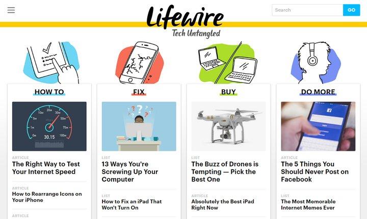 Lifewire es un nuevo sitio lanzado por About.com, con mucha información, guías y turoriales sobre tecnología