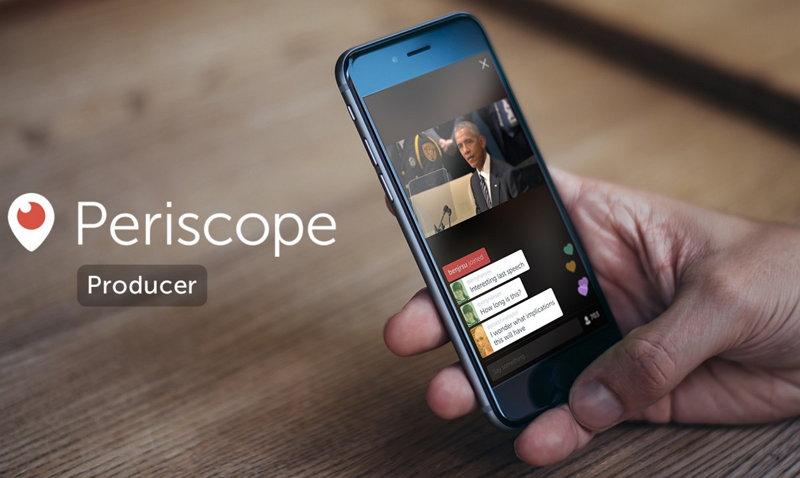 Twitter anuncia Periscope Producer API, para transmitir directamente de Apps y Servicios