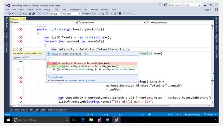 Microsoft Visual Studio 2017 RC