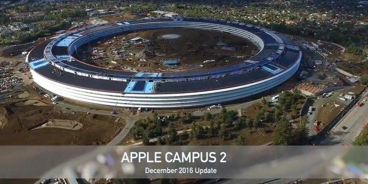 Espectacular vídeo capturado desde un drone que muestra la construcción del Apple Campus 2 [Diciembre/2016]