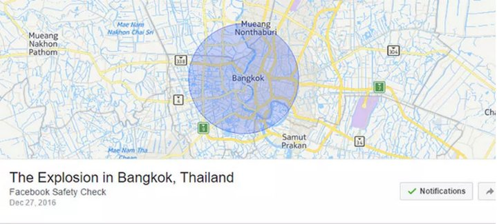 Facebook Estado de Seguridad - Bangkok