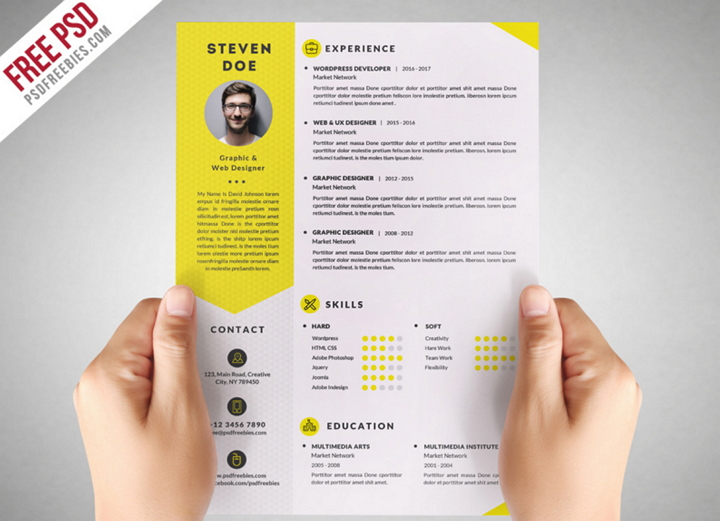 Resume PSD Freebies