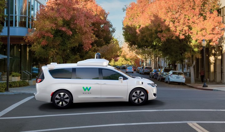 Este es la nueva minivan del proyecto de vehículo autónomo de Waymo (Google)