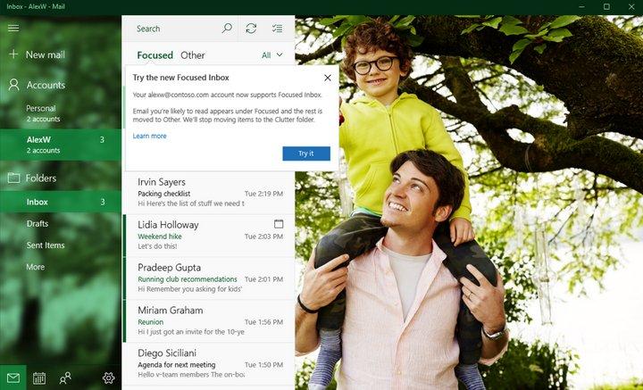 Correo Windows 10