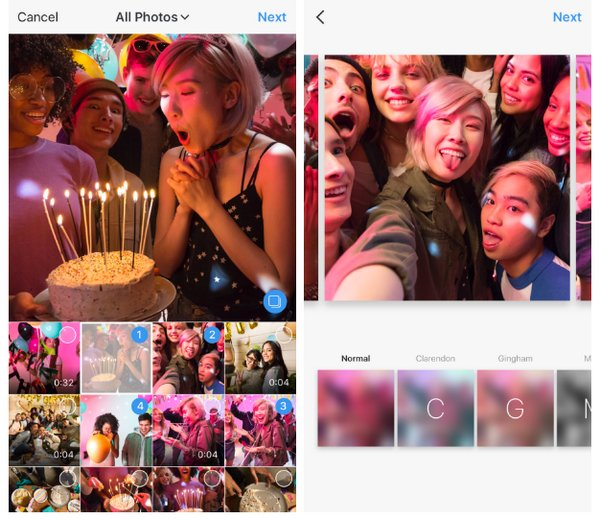 Instagram Múltiples Fotos y Vídeos