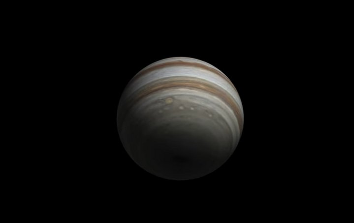 Espectacular vídeo de Júpiter creado con más de 1.000 imágenes capturadas por 91 astrónomos aficionados