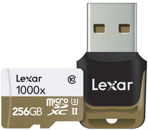 Lexar Professional 1000x microSD UHS-II (U3) de 256GB
