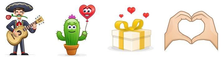 Skype - Mojis - Día de los Enamorados