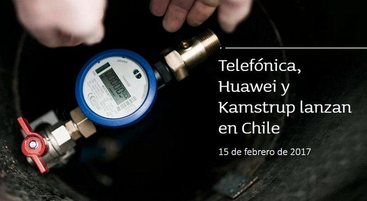 Telefónica, Huawei y Kamstrup lanzan en Chile su primer proyecto de telemedición con tecnología NarrowBand IoT