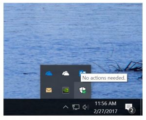 Windows 10 Insider Preview - Icono de Windows Defender