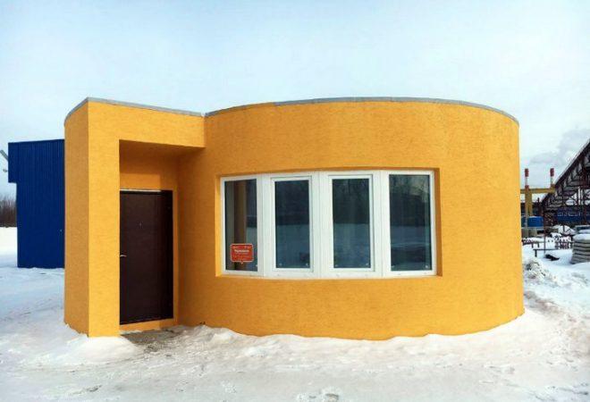Apis Cor - Casa construida con Impresión 3 D