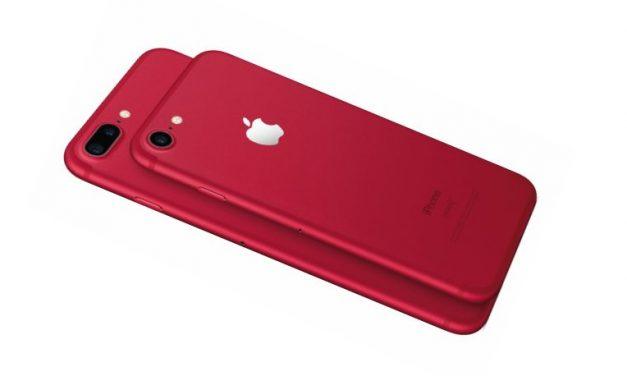 Apple anuncia edición especial en rojo de sus iPhone 7 y 7 PLus