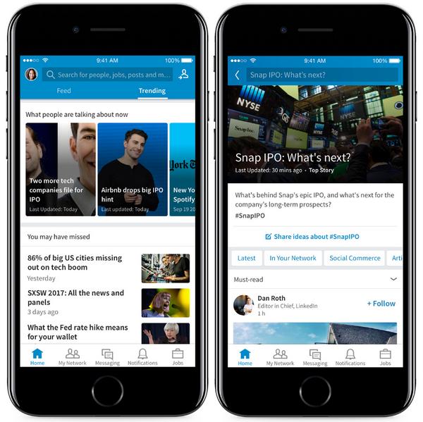 LinkedIn Trending Storylines