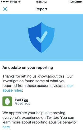 Twitter Notificación de Reportes
