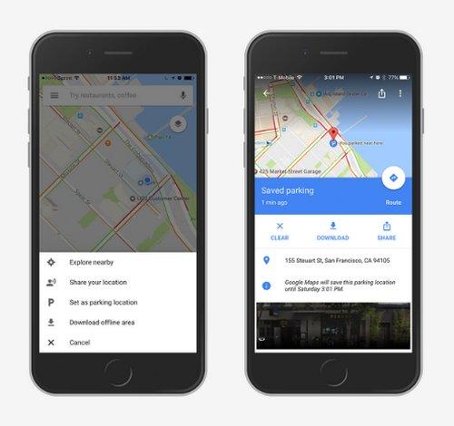Google Maps iOS - Estacionamiento