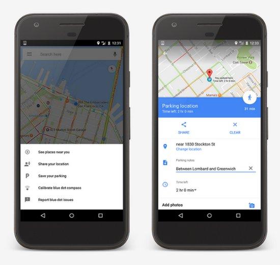 Google Maps Android - Estacionamiento