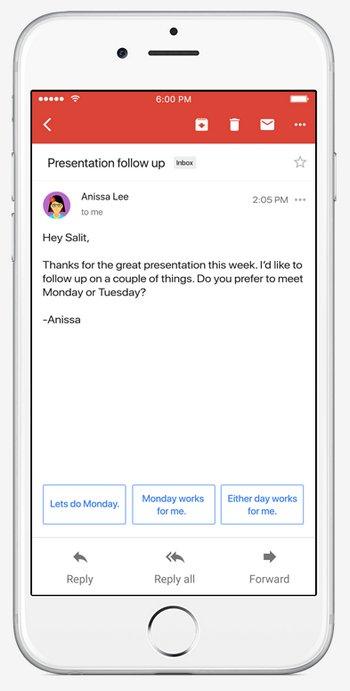 Gmail - Smart Reply - Respuesta Inteligente