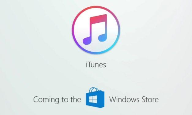 iTunes pronto también estará presente en la tienda de Aplicaciones de Windows