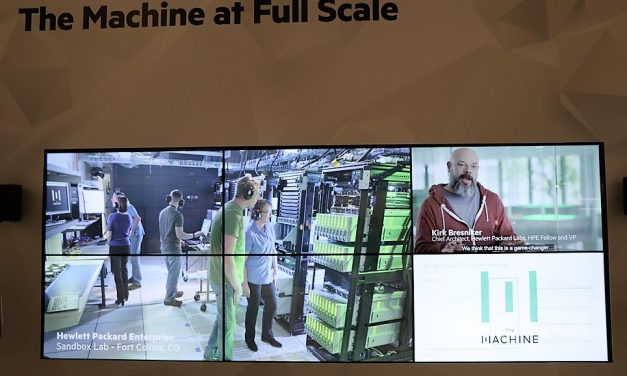 "Pleno funcionamiento a escala normal de ""The Machine"" en HPE Discover"