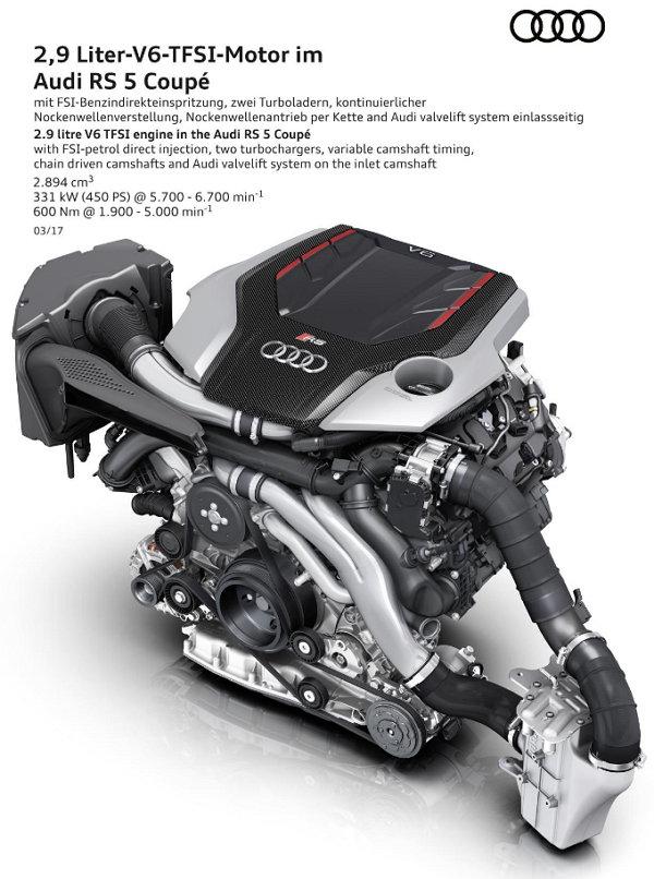 Audi RS 5 Coupé - Motor