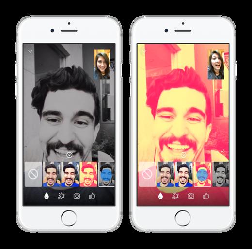 Facebook Messenger Vídeo Chats Filtros