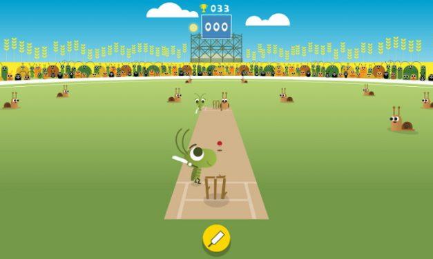 Celebrando el 2017 ICC Champions Trophy, Google publica un Doodle con un juego de críquet
