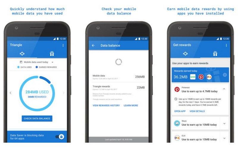 Triangle, la aplicación gratuita que te permite ahorrar datos móviles en Android