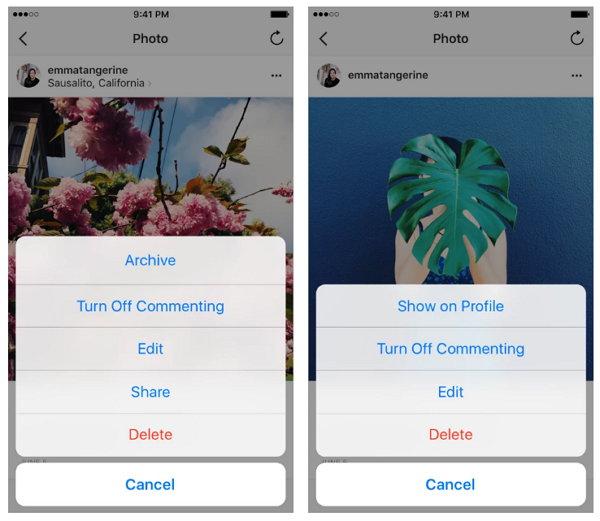 Instagram presenta su nueva función Archivo