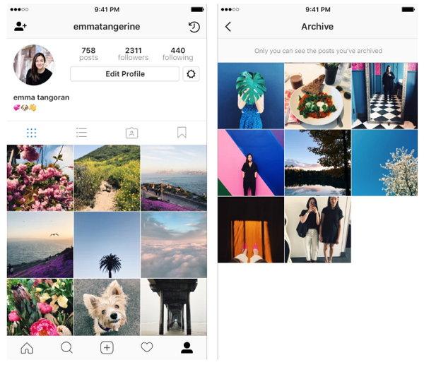 Instagram presenta su nueva función 'Archivo'