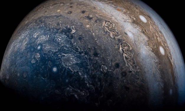Un vídeo alucinante muestra el planeta Júpiter desde la sonda espacial Juno