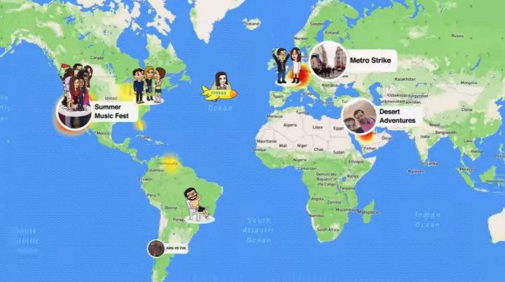 Snapchat Snap Maps