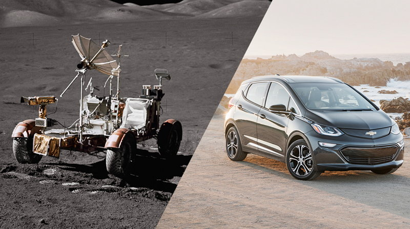 Rover Lunar 1971 - Chevy Bolt EV 2017 - Vehículo Eléctrico