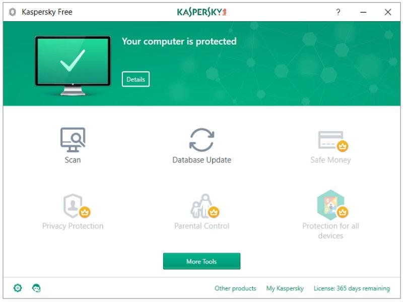 Kaspersky ya tiene una versión gratuita de su antivirus