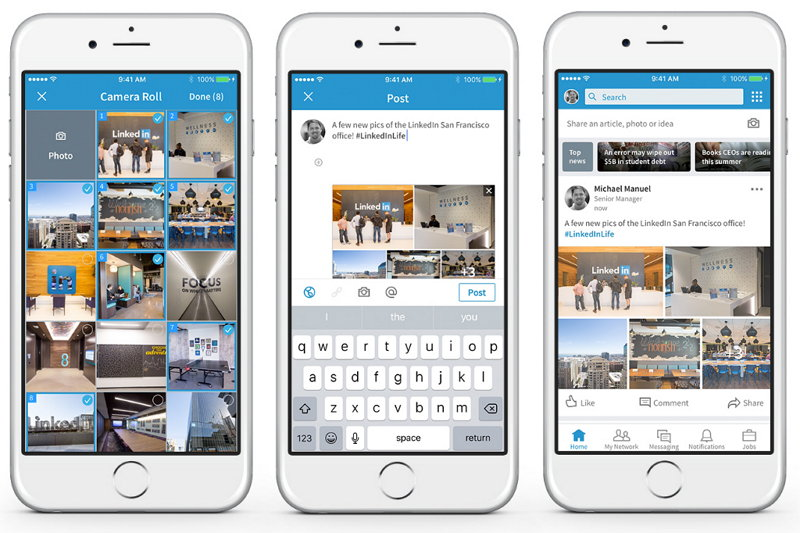 LinkedIn - Publicar Múltiples Fotografías