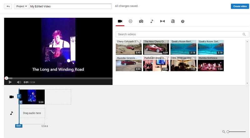 Youtube - Editor de Vídeos