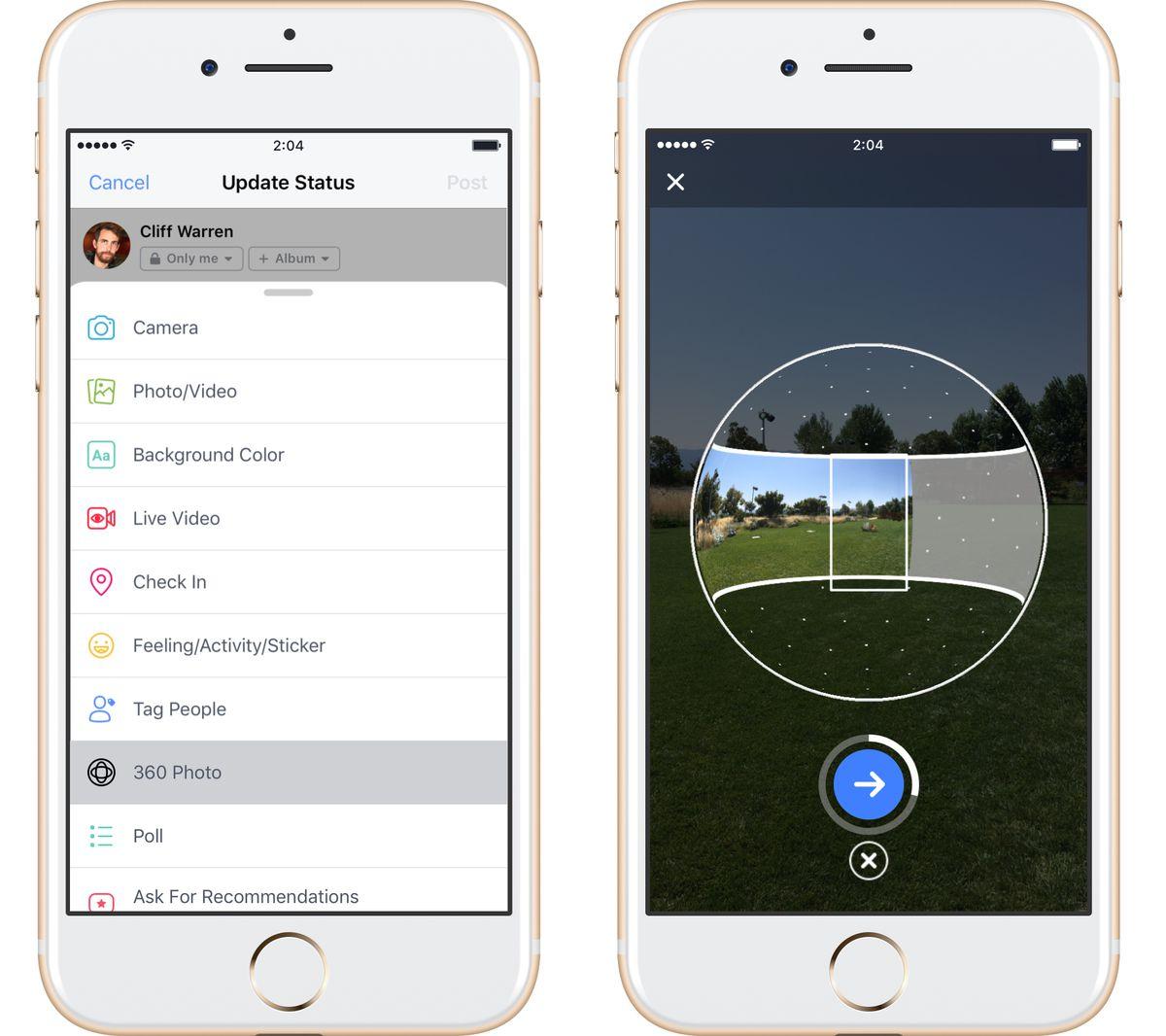La App de Facebook ya te Permite Tomar Fotos en 360