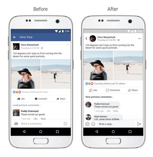Facebook - Feed de Noticias - Navegación