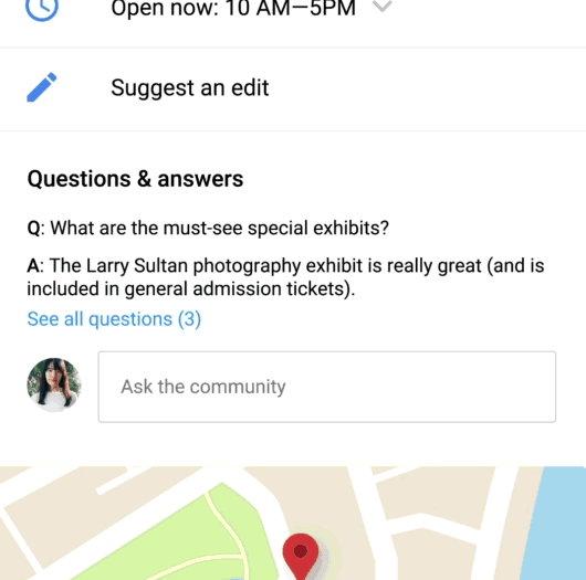 Google Maps ya permite hacer preguntas sobre los lugares que visitas